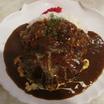 ランチ寿 - 料理写真:ハンバーグカレー950円