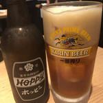 晩杯屋 - ホッピーセット黒370円(2018.07)