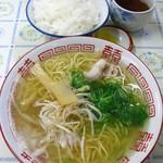 森田食堂 - 中華そば400円+ライス小170円