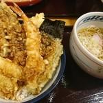 天丼てんや - 海鮮天丼と小そばセット