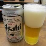 そば処 吉野家 - ビールは缶です