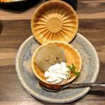 粋な肉 - ほうじ茶アイスの最中サンド