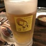 王道居酒屋 のりを - やっぱ生ビールから!