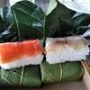 柿の葉おすし山の辺 - 料理写真:北海道産紅鮭と静岡産真鯖