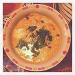 9048930 - 豚とキノコとの豆乳スープ