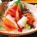 開山 - 料理写真:お造り膳のお刺身