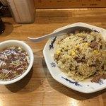 平和軒 - チャーハンとスープ