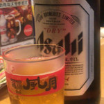 鶴橋風月 - さすが屋号入りビールグラス