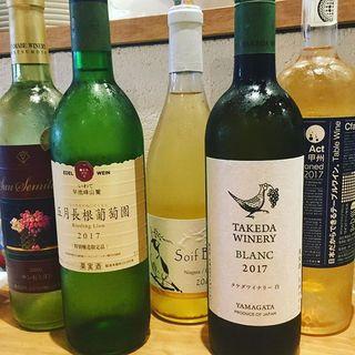 お料理と相性抜群のワインを、種類豊富に取り揃えております