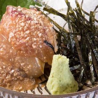 牛タンの脇で華を添える、福岡県産の新鮮な野菜や食材たち