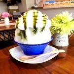 アオイトリ - 料理写真:抹茶エスプーマ