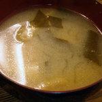 田幸 - 昼定食のみそ汁