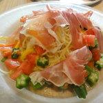 9050289 - パルマ産生ハムとさっぱり夏野菜の冷製パスタ