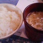 風生庵 - ご飯と豚汁