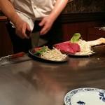 ステーキランド - 肉と野菜の準備