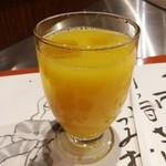 ステーキランド - 食後のオレンジジュース