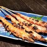 博多よし魚 - 車海老の塩焼き。