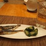 トラットリア・アルモ - メザシ & 胡瓜の糠漬け