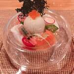 ビストロアム - 魚介のパフェ~蟹みそのアイスクリーム~