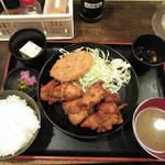 90506169 - 【ワンコインランチ】 唐揚定食 胸肉