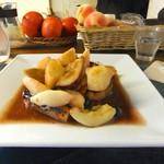 レッスン - フレンチトースト〜丸ごと桃とイチジク&りんごのカラメルベリーソース
