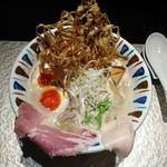 鶏Soba 座銀 - 煮干し吟醸nigori+燻製味タマ♪