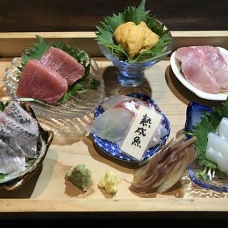毎朝豊洲から仕入れる新鮮で上質な魚介類!お刺身がオススメ◎