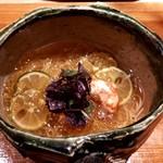 うさぎと亀 - 葛素麺~北海シマエビとすだちのジュレをのせて~