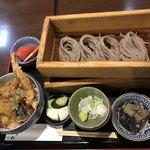 蕎膳 楽 - 【2018.7.25】天丼とおそばの膳¥1050
