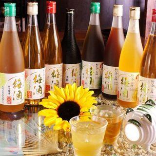 日本全国47都道府県の梅酒日本酒も豊富