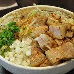 濃厚担々麺はなび 蟹江店 - ド肉ニンニクまぜそば大盛 1,000円