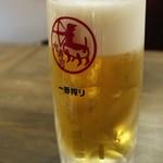 裏天王寺 肉寿司 - ◆キリン一番搾り(生中) 490円