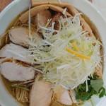 鶏蕎麦かかし - 鶏塩蕎麦チャーシュー 1000円
