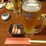 居酒屋 燔 - 生ビールとお通し