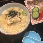 卓楽 - 鱧雑炊、玉子、あさつき、針海苔、香の物 自家製京漬物