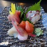 レストランせせらぎ - 料理写真:お刺身盛700円