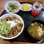 どて丼・串かつ・おおぞら - 醤油豚ホル丼ランチ