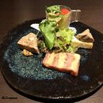 Yui - 鴨肉のテリーヌ、パテ・ド・カンパーニュ、鶏レバーペースト