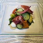 90550286 - 冷たい前菜 近江野菜のサラダ仕立て