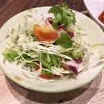 麦庵 - セットのサラダ