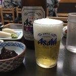 尾張屋 - 「瓶ビール(お通し付き)」650円