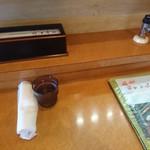 力寿司 - カウンター?       椅子の席