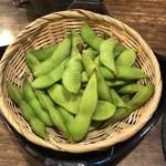 串焼き田舎味噌もやし - 枝豆。