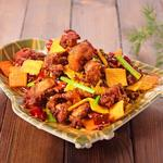 蓬渓閣 - 鶏肉と辛子の四川風炒め