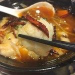 中華料理 大福園 - 四川風旬魚の唐辛子煮