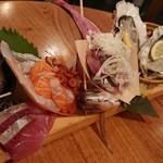 鱈腹魚金 - 2名様限定!刺し盛り!玉手箱!これは素晴らしいです!