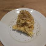 ワインバー 杉浦印房 - グァンチャーレと卵のポテサラ
