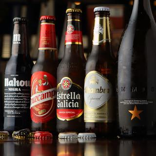 人気のスペインクラフトビール大好評スペイン料理と一緒にどうぞ