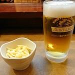 三国志 - お通しと生ビール