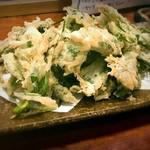 魚酒場ピン - 明日葉天ぷら